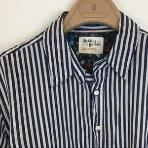 Anthropologie holding horses striped top